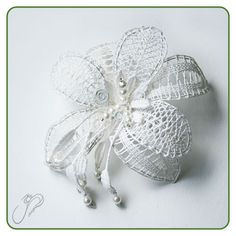 Lace Heart, Lace Jewelry, Bobbin Lace, Lace Flowers, Lace Detail, Creations, Butterfly, Knitting, Crochet