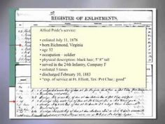 Genealogy Introduction—Military Research at the National Archives: Regular Service via NARA