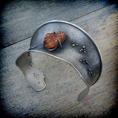Cuff Bracelet Silver Cuff Bracelet Anticlastic by EraArtJewelry, $283.00