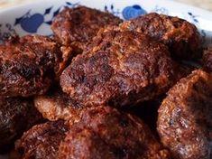Czech Recipes, Ethnic Recipes, Snack Recipes, Snacks, Pork Tenderloin Recipes, Hamburger, Food And Drink, Meals, Cooking