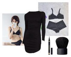"""Black Bralette"" by pameklapp ❤ liked on Polyvore featuring Yves Saint Laurent, NARS Cosmetics, bra, bralette, LaceBra and lacebralette"