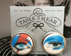 ⚡Ziggy earrings. I might pass out with excitement if someone made something like these for me. I do prefer dangly earrings, though, and they can't be too big ☺