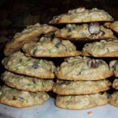 St. Patrick's Day Zucchini-Oatmeal Cookies. Hmmmmm.... Sounds interesting.