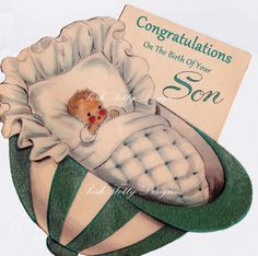 Congratulations On The Birth of Your Son by poshtottydesignz