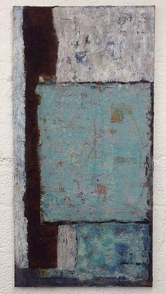 Große Schichtarbeit - Mixed Media on canvas, 70 x 140 cm | Flickr - Photo Sharing!