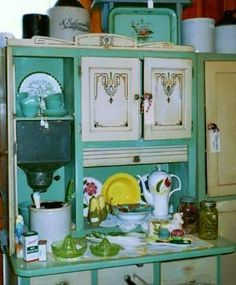 Hoosier cabinet fever :) Look at that color!