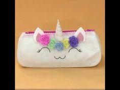 Estojinho unicornio com molde - YouTube