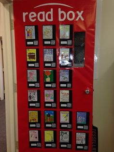 "Our classroom ""read box""- we created digital reports in the educreations app then converted the reports to a qr code. students can scan the… Classroom Door, School Classroom, Classroom Organization, Classroom Ideas, School School, Future Classroom, School Ideas, Deck The Halls, Read Box"