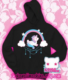 Kawaii+Fairy+Kei+Pastel+Unicorn+Wish+Womens+by+thekawaiimachine,+$45.00