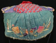 Old tribal exotic chinese ethnic songtao miao people's hand embroidery child hat
