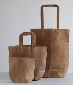 Kazumi Takigawa's line of dyed and waxed canvas bags - absolutely love!