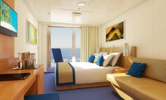 Carnival Sunshine aft view extended balcony - this will be our room for our next cruise Nov. 2014!!