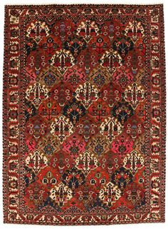 Bakhtiari Persian Carpet  | unq3412-12 | CarpetU2