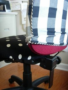 DIY: Office Chair Makeover with Fabric Chair Redo, Diy Chair, Slipcovers For Chairs, Chair Cushions, Swivel Chair, Recover Chairs, Diy Art, Office Chair Makeover, Ikea