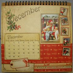December Calendar Page with Graphic 45 papers
