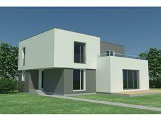 Haus bauen modern flachdach  Bau mein Haus Fertighaus - Fertighaus Bauhaus 174 | Umbau ...