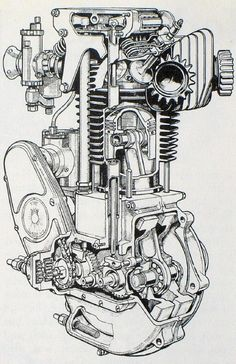 Image result for motorcycle engine art sketch