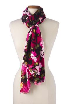 Women s Pink Floral Scarf. Rae Howard · Lands  End 5989b6ac0112