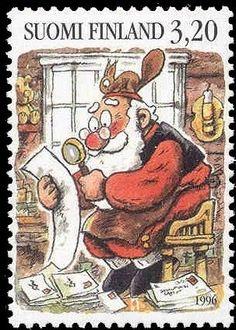 Joulupostimerkki 1996 3/3 - Joulupukki