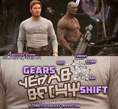 What does Star-Lord's shirt say in Guardians of the Galaxy Vol 2? - SlashGear