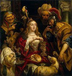 Jacob Jordaens (1593-1678) Flemish Baroque Painter / Cleopatra's Feast