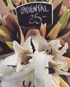 Beautiful oriental lillies from our instore florist, the perfect weekend treat
