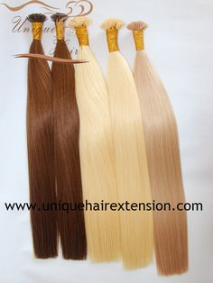 The best quality European Remy double drawn keratin hair extensions, flat tip, 100% premium quality human hair, the hair very soft, tangle free no shedding, welcome to contact our factory to get your wholesale price sales@uniquehairext ension.com whatsapp: +8613553058361
