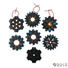 Scratch Away The Black Surface On Each Gear Ornament To Reveal A Rainbow Of Colors These Ornaments Are Great Student Giveaways That Make Fun Classroom