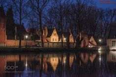 Love Lake and the Begijnhof and its reflections in the Bruges Love Lake by aoverfeldt