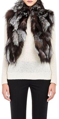 Barneys New York Women s Patchwork Fur Vest White Fur Vest 8d2e8b4b0b0