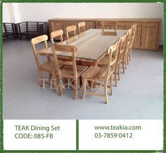 https://flic.kr/p/ZHknTJ | 23737757_1705926549420238_1558169624506569101_o | Teak wood dining set Code: 085-FB Available in different colors and Sizes for inquries call us at 03-58590412 or mail us at info@teakia.com