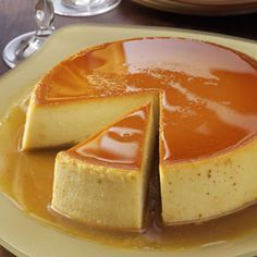 Creamy Caramel Flan Recipe -If you're unfamiliar with flan, think of it as a tasty variation on custard. One warning, though—it's <I>very</I> filling. A small slice of flan goes a long way! —Pat Forete, Miami, Florida