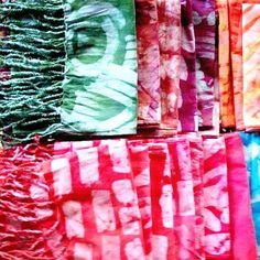 Batik Fringe Wrap