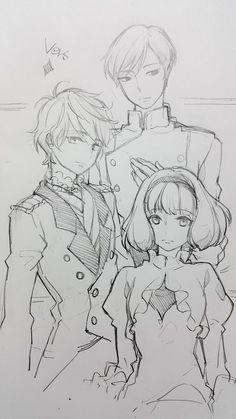 Slaine Troyard, Princess Lemrina & Sir Harklight - Aldnoah.Zero