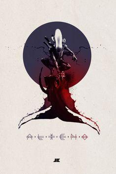 Fine Art Hulk, Master Chief, Aliens posters by Josip Kelava