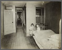 "TENEMENT HOME: ""New York: Tenement families. Early 1900s."" Photography by Jessie Tarbox Beals (1870-1942)."