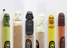 Star Wars Carved Crayons; Darth, Chewbacca, C3PO and StormTrooper ...