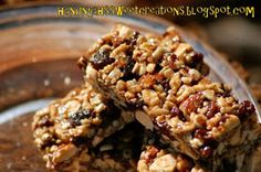 Ranch Girl's Sweets 'N' Treats: 31 for 21: Fruit & Nut Granola Bars