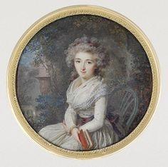 Lady lisant dans un parc, 1790 Lié Louis Perin-Salbreux