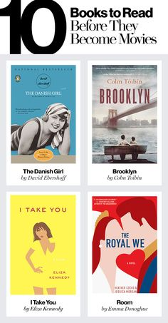 Amazing books to read before they're made into movies - add these to your reading list!