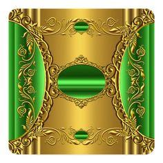 Shop Elegant Green Lime Gold Fabulous Birthday Invitation created by Zizzago. Elegant Birthday Party, Gold Birthday Party, Birthday Woman, Wiccan Art, 50th Birthday Invitations, Party Stores, Elegant Invitations, Colorful Wallpaper, Paper Design