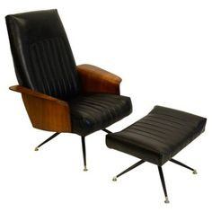 Check out this item at One Kings Lane! Plycraft-Style Lounge Chair & Ottoman