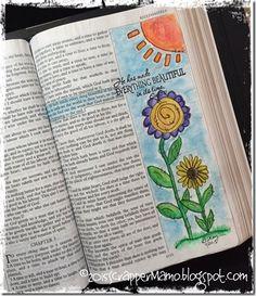 He Makes it Beautiful {Bible Art Journaling} Bible Study Tools, Bible Study Journal, Art Journaling, Scripture Journal, Journal Art, Prayer Journals, Scripture Art, Bible Art, My Bible