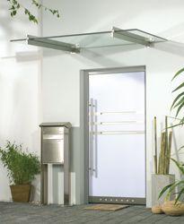 Marquesinas de vidrio vidrieria y aluminio en tlajomulco - Marquesinas para puertas ...