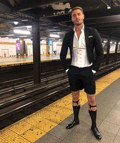 Black Suit Men, Gay Outfit, Mens Fashion Suits, Male Fashion, Sheer Socks, Designer Suits For Men, Tuxedo For Men, Suit And Tie, Costumes