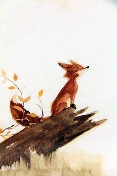 Resultado de imagen para fox aquarell
