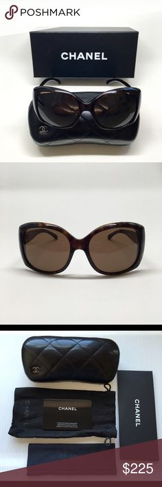 CHANEL Authentic Sunglasses Authentic CHANEL oversized sunglasses • Like new condition, no scratches/imperfections • Dark tortoise color • Chanel logo on the sides • Pairs perfectly with dressy or casual outfits • Includes: Chanel box, Chanel hard case, Chanel soft case, soft lens cloth, Chanel certificate of authenticity card CHANEL Accessories Sunglasses