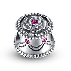 """""""Happy Birthday"""" Rose Cake Swarovski Charm❤Use Coupon code """" PIN5 """" ,Get 5% OFF on all products on www.glamulet.com"""