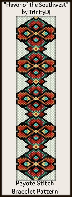 """Flavor of the Southwest"" - In The RAW - New pattern listed. Here's your chance to test bead new designs and earn DISCOUNTS on your next 'In the Raw' Design! Please follow this link for the direct download and/or kit: http://cart.javallebeads.com/Flavor-of-the-Southwest-Odd-Count-Peyote-Pattern-p/td106.htm"