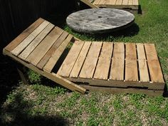 Pallet Loungers...not that comfy looking though!
